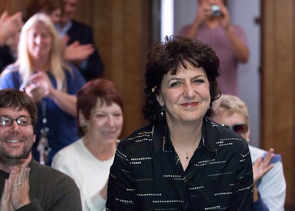Lisa Feldman Notification Head of School Lisa Feldman at Weizmann Day School, Pasadena, reacts to news she has just won a 2011 Jewish Educator Award which includes a $15,000 unrestricted financial prize.