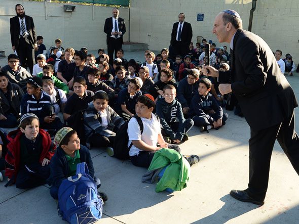 Deborah Raskin Notification Dr Gil Graff addresses Or Hachaim Academy students