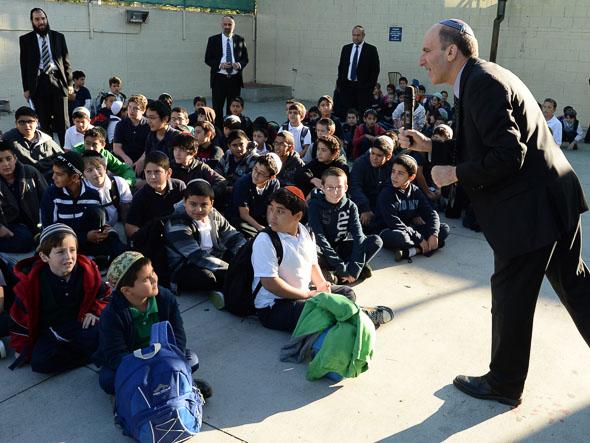 Deborah Raskin Notification Dr Gil Graff addresses Or Hachaim Academy students