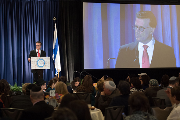 27th Awards Luncheon Lowell Milken, chairman and co-founder of the Milken Family Foundation, thanks the 2016 Jewish Educator Award recipients for choosing careers in education