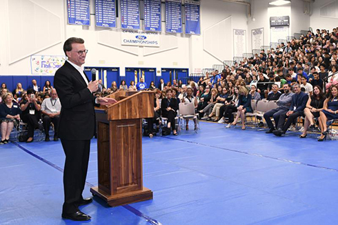 Melody Mansfield Notification Lowell Milken, chairman and co-founder of the Milken Family Foundation, tells students at Milken Community Schools that teachers and principals play a critical role in our society: preparing every young person for a bright future.