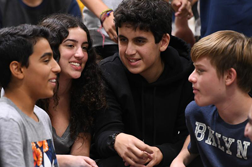 Melody Mansfield Notification Milken Community Schools students wonder what the assembly is all about.